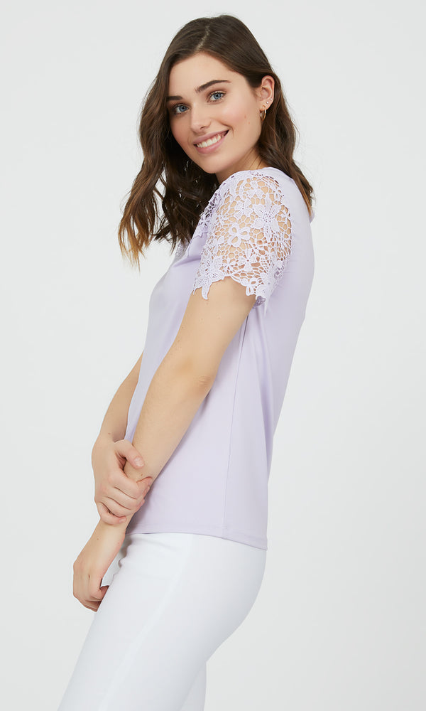 Short Sleeve Crochet Top