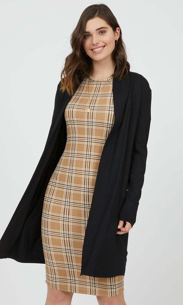 Classic Long Sleeve Open Front Duster
