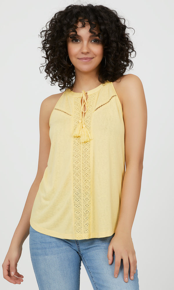 Sleeveless Halter Neck Crochet Top
