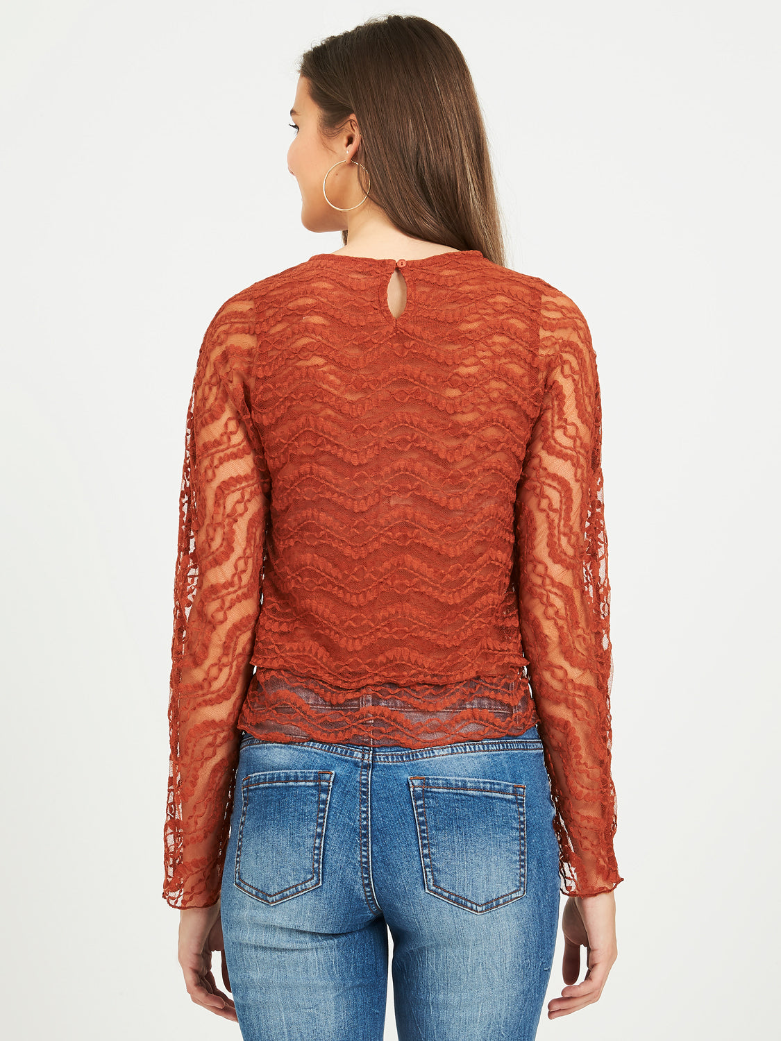 Two-Layer Lace Top
