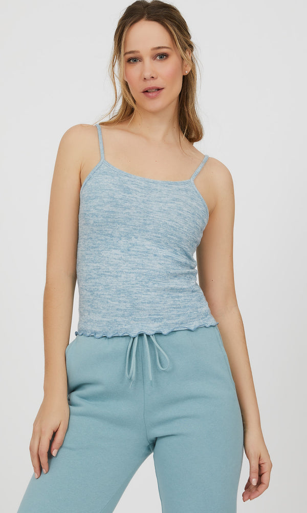 Merrow Edge Mélange Knit Tank Top
