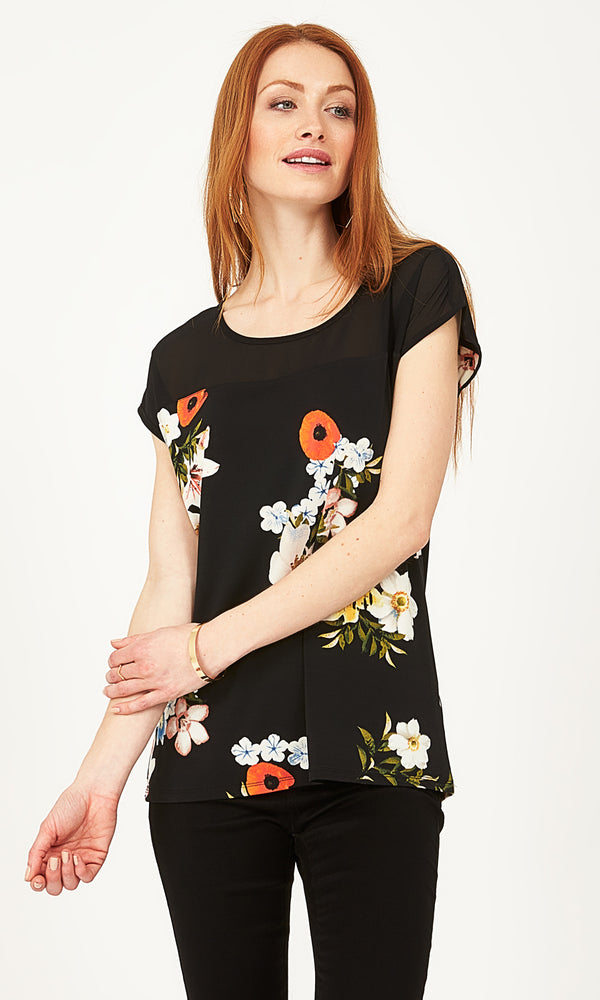 Floral Cutout Knit Top