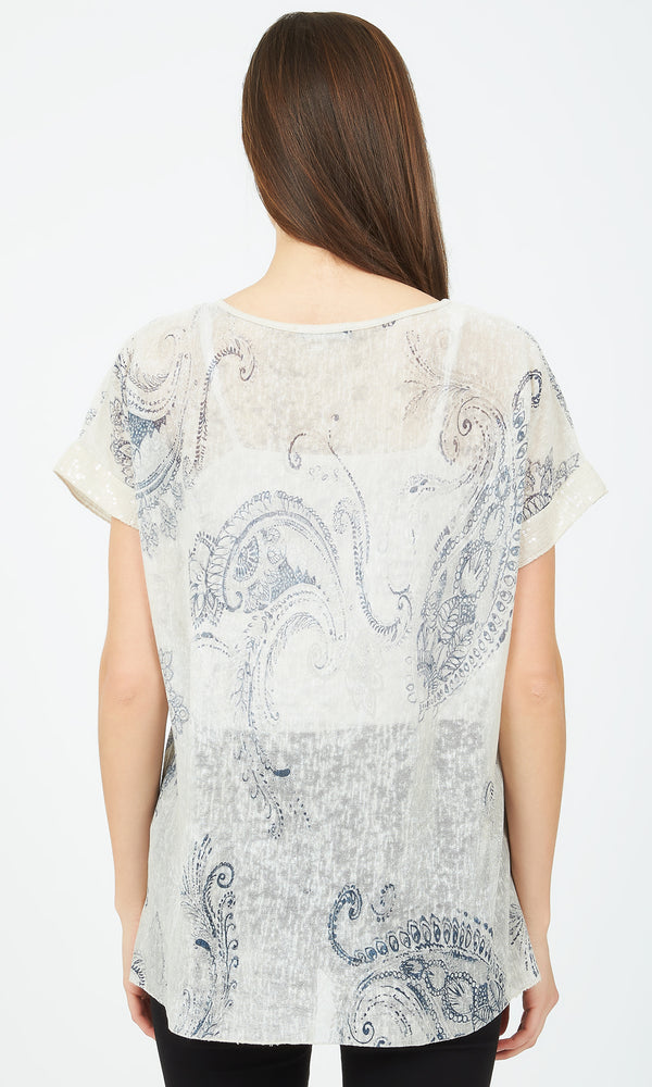 Paisley Short Sleeve Top