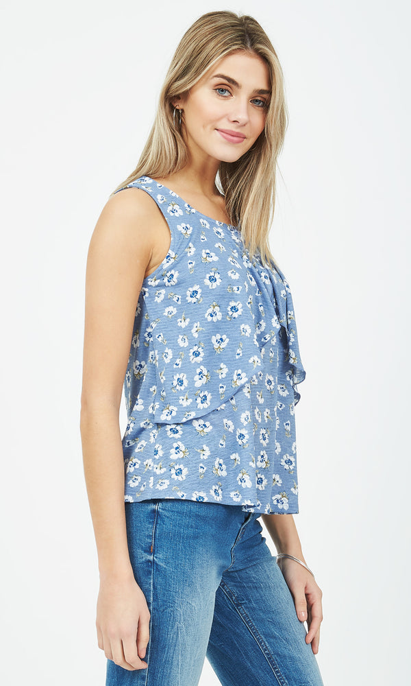 Double Layer Flounce Top