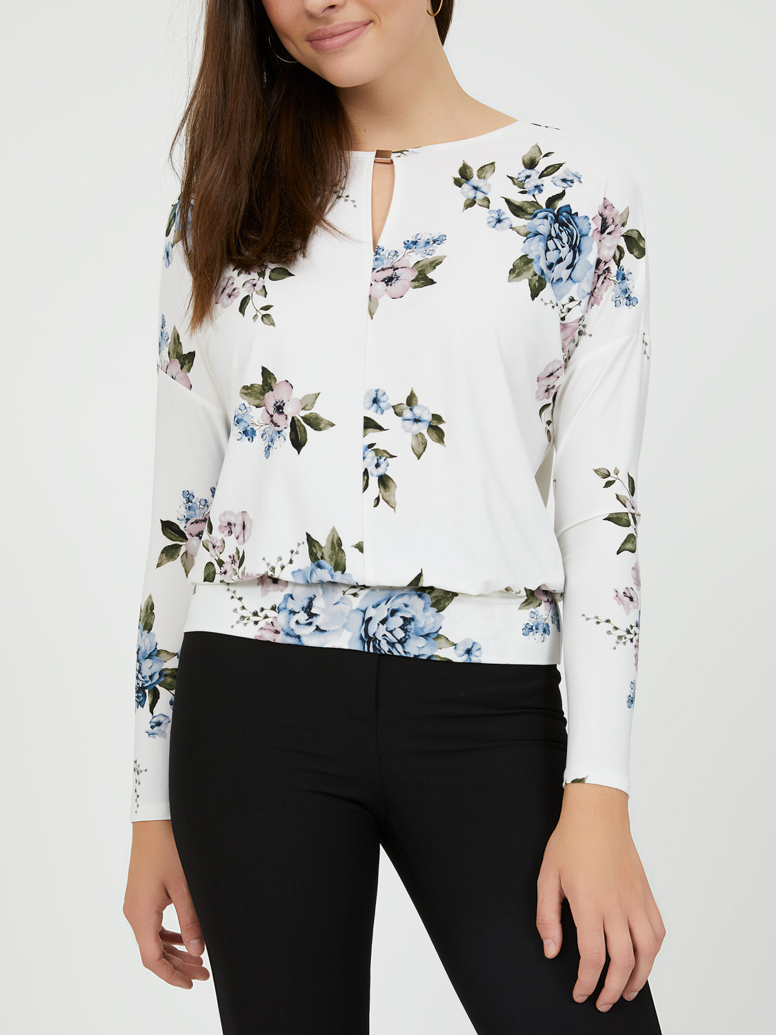 Long Sleeve Flower Print Tee