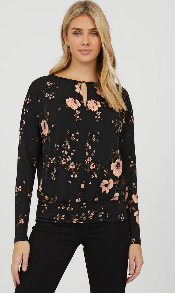 Easy Dolman Sleeve Floral Top