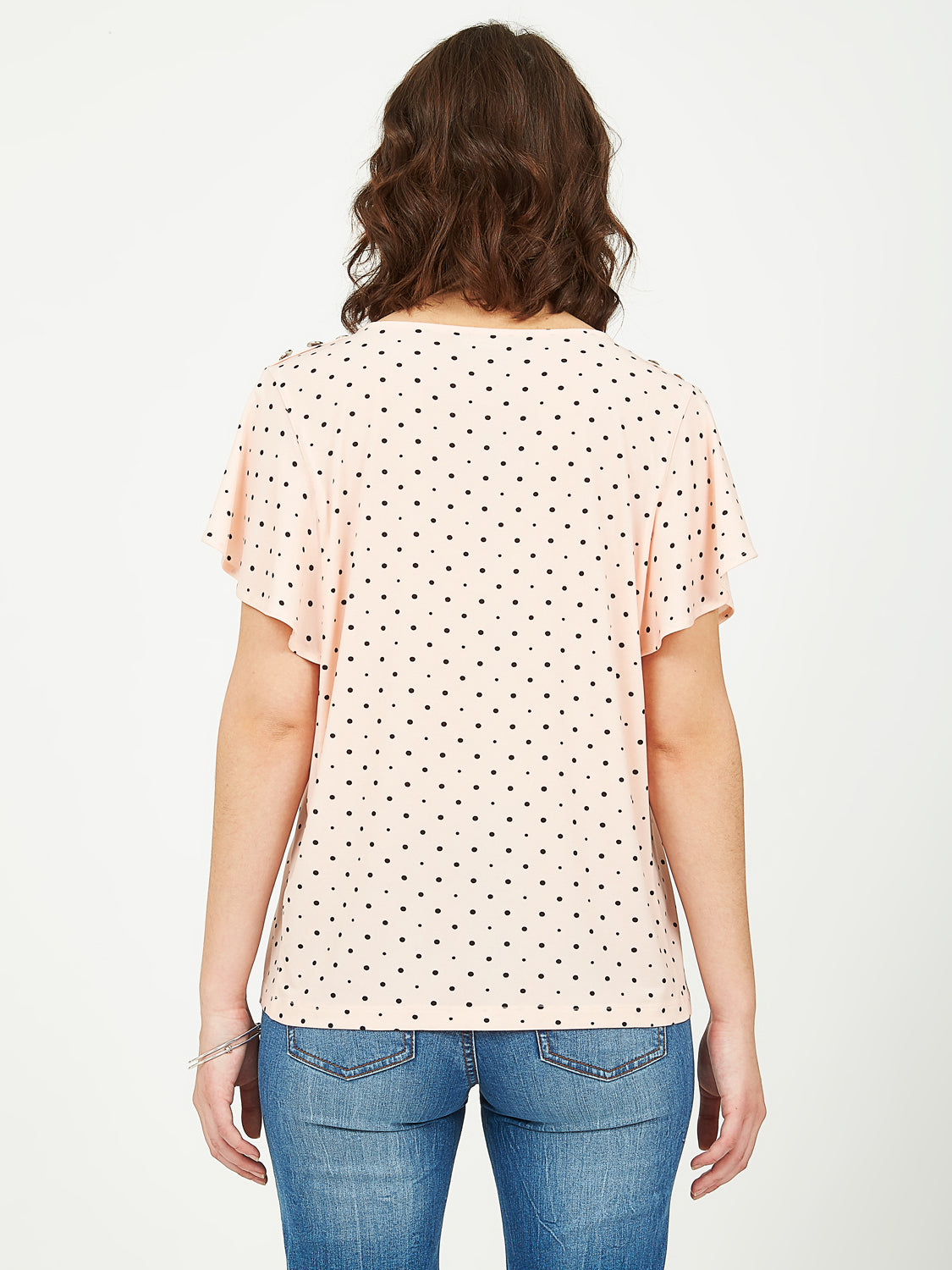 Printed Flutter Sleeve Top