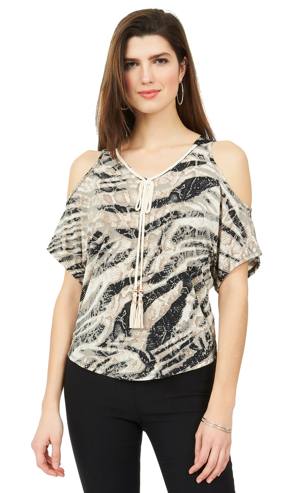 300a096f0339e Cold-Shoulder Dolman Sleeve Top Cold-Shoulder Dolman Sleeve Top