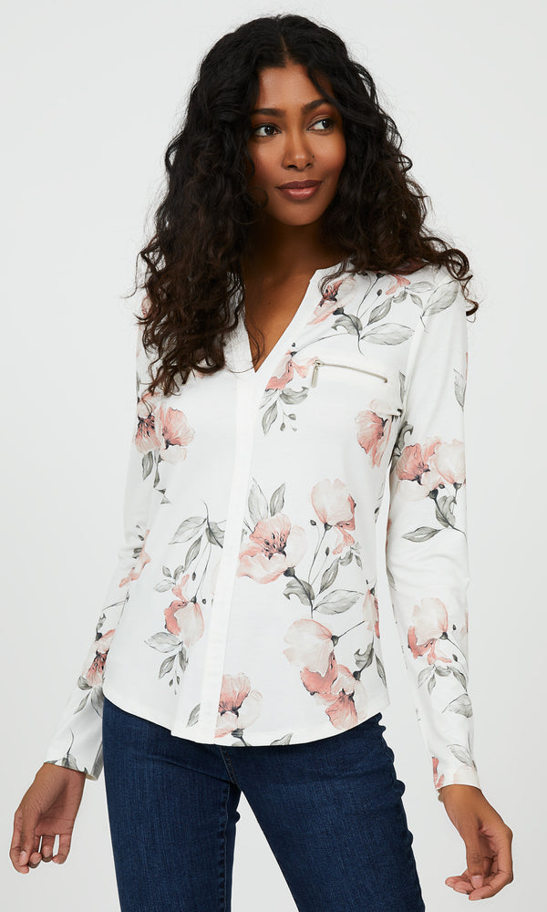 Popover Floral Top