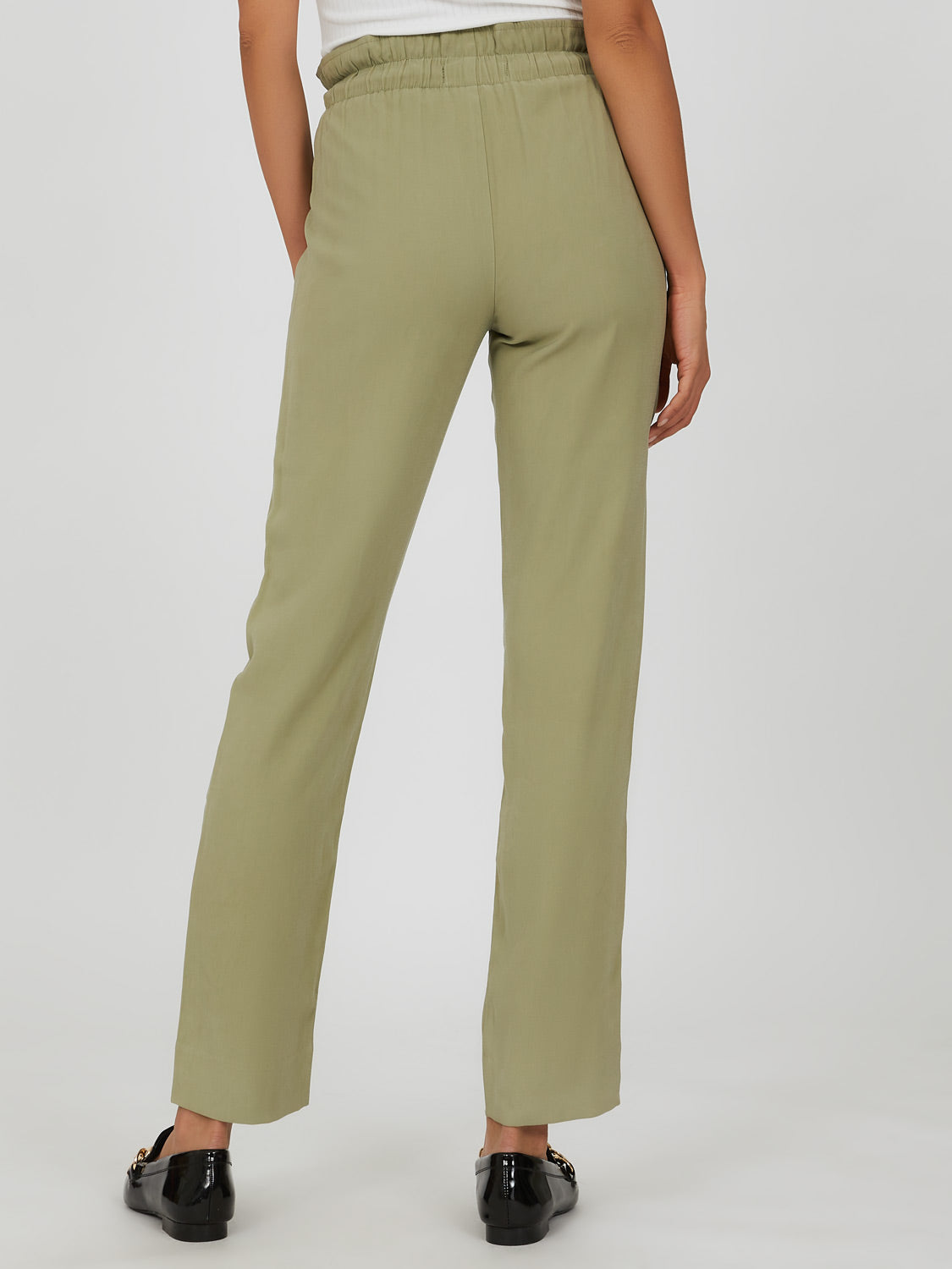 Paperbag Tencel Slim Pant