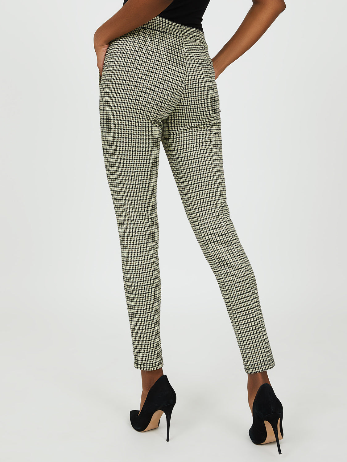 Houndstooth Plaid Pant