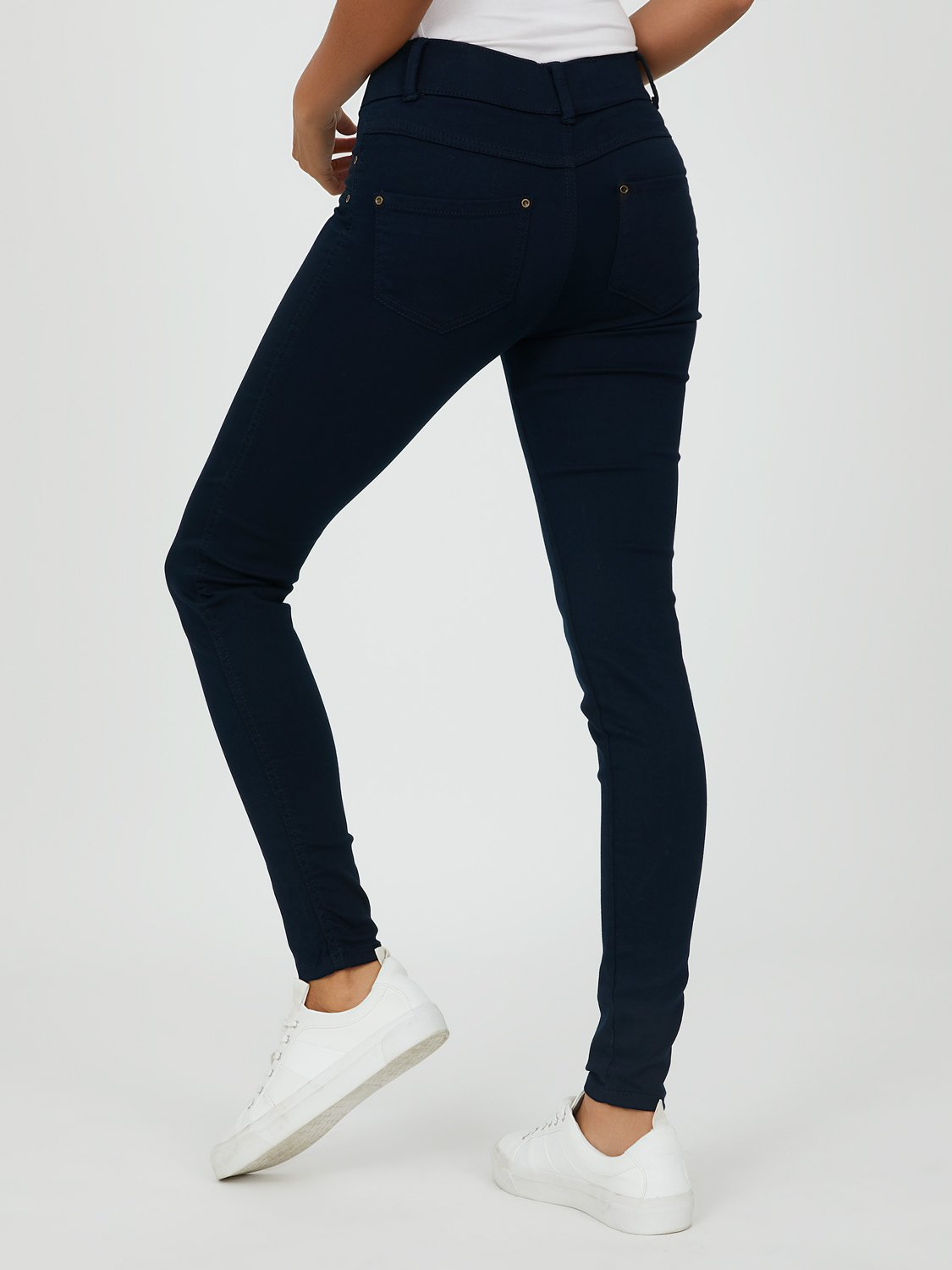 Pull-On Skinny Stretch Twill Pants
