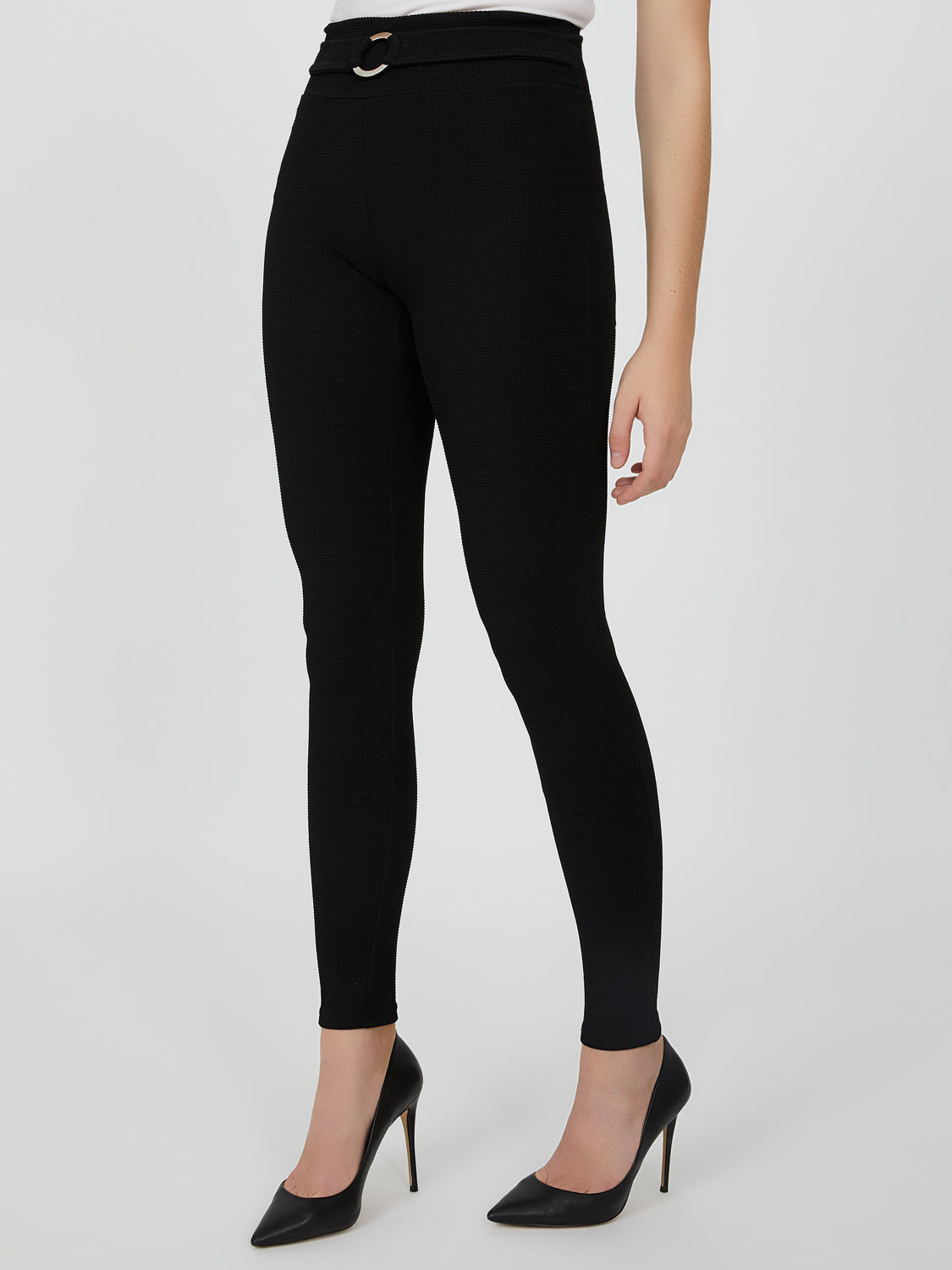 Skinny-Fit Textured Knit Pant