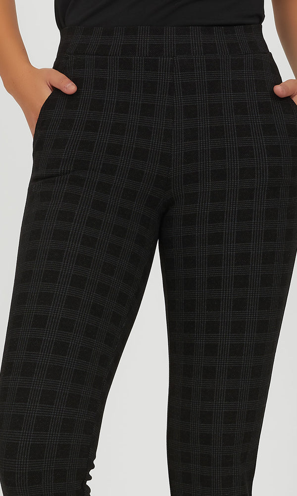 Windowpane Slim Pant