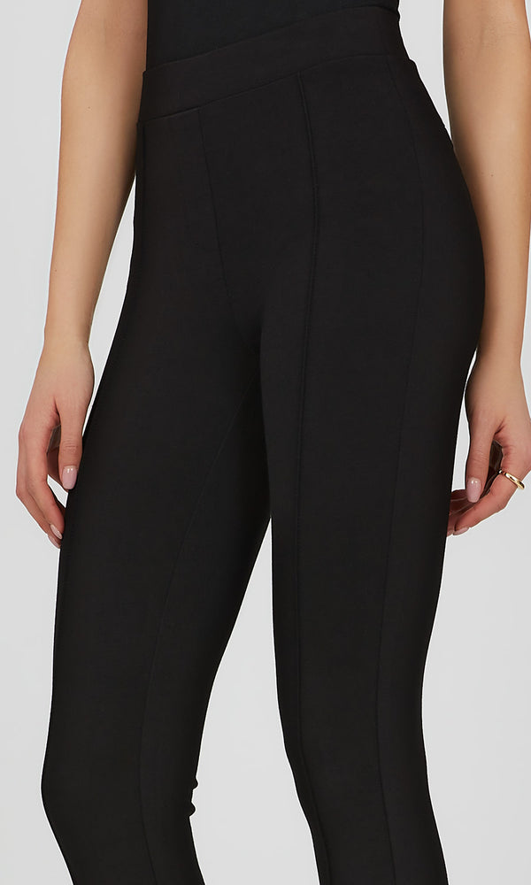 Pull-On Pintuck Knit Pant