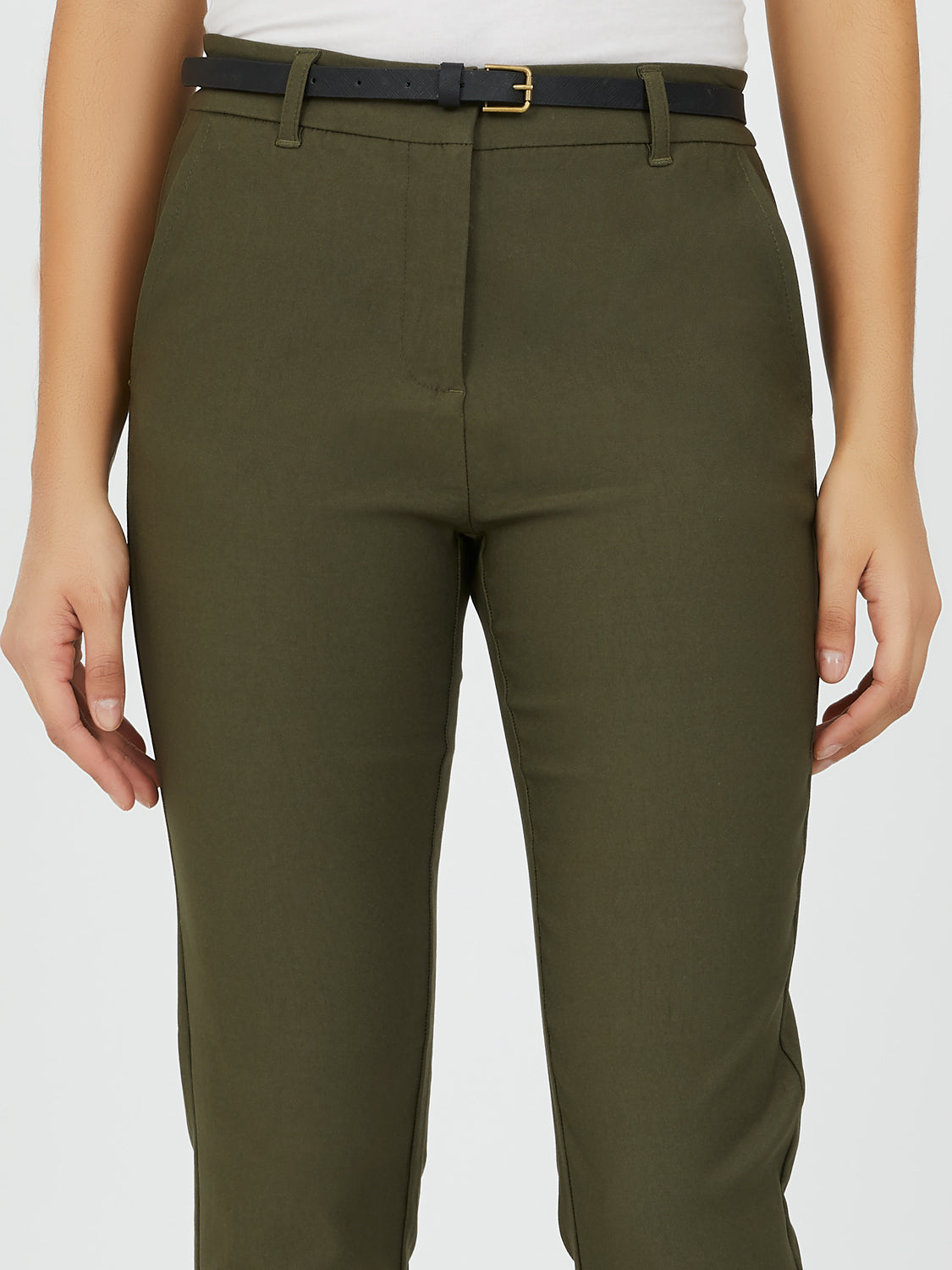 Twill Ankle Length Pant