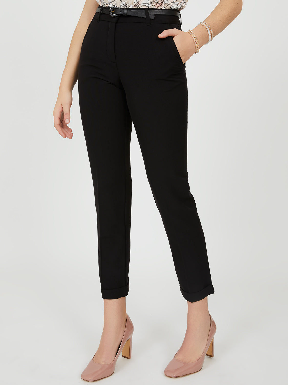 Belted Ankle Pant