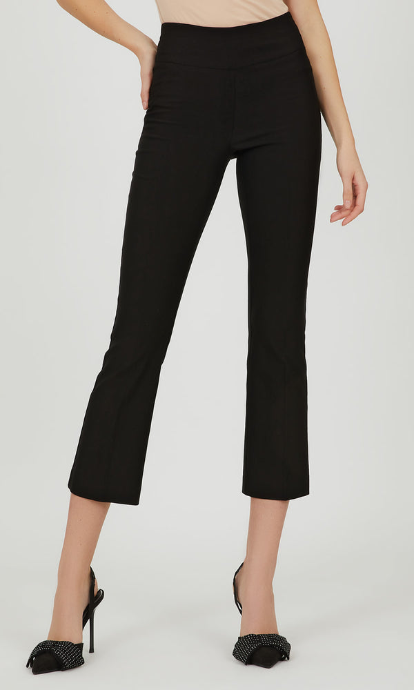 Wide Waist Cropped Pant