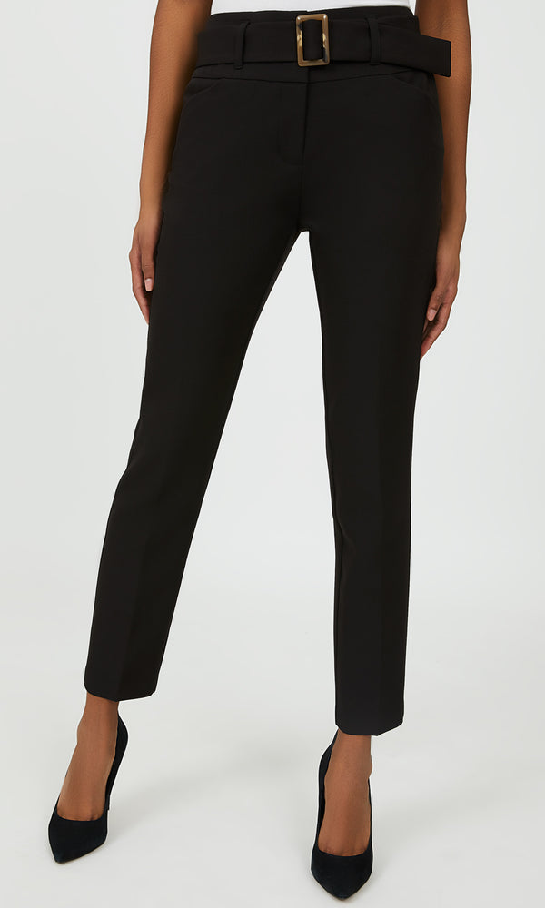Belted Straight Leg Pant