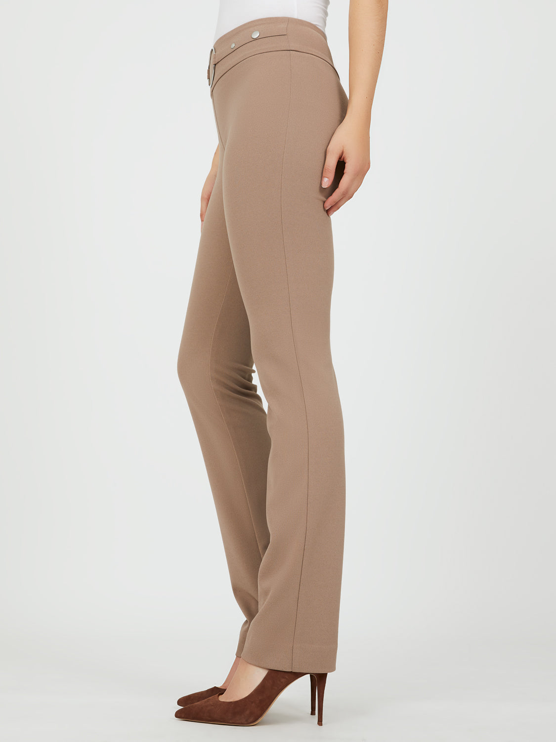 Pull-On Crepe Knit Pants