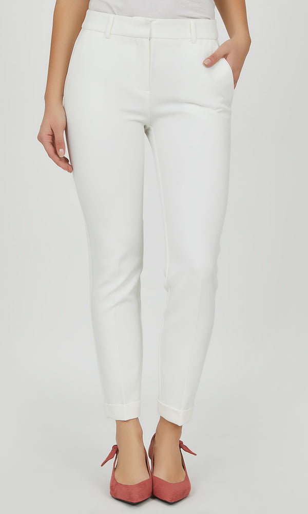 Belted Cuffed Ankle Length Pant