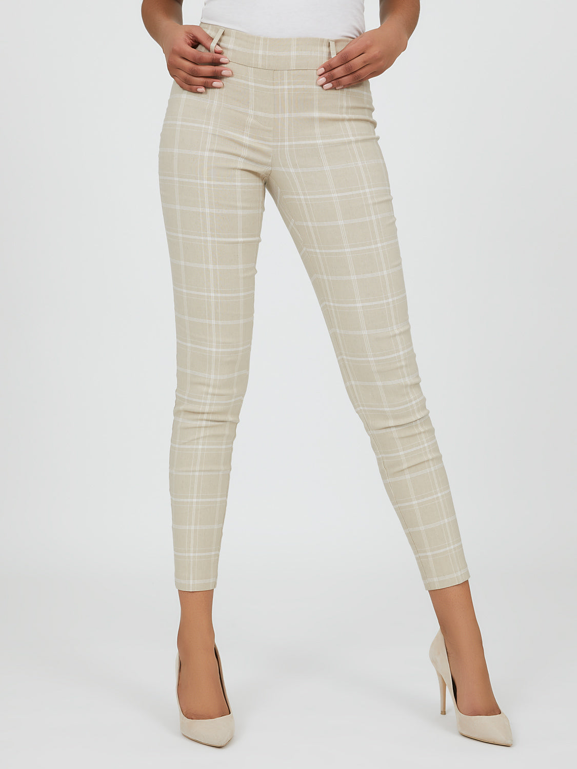 Belted Pull-On Slim Fit Pant