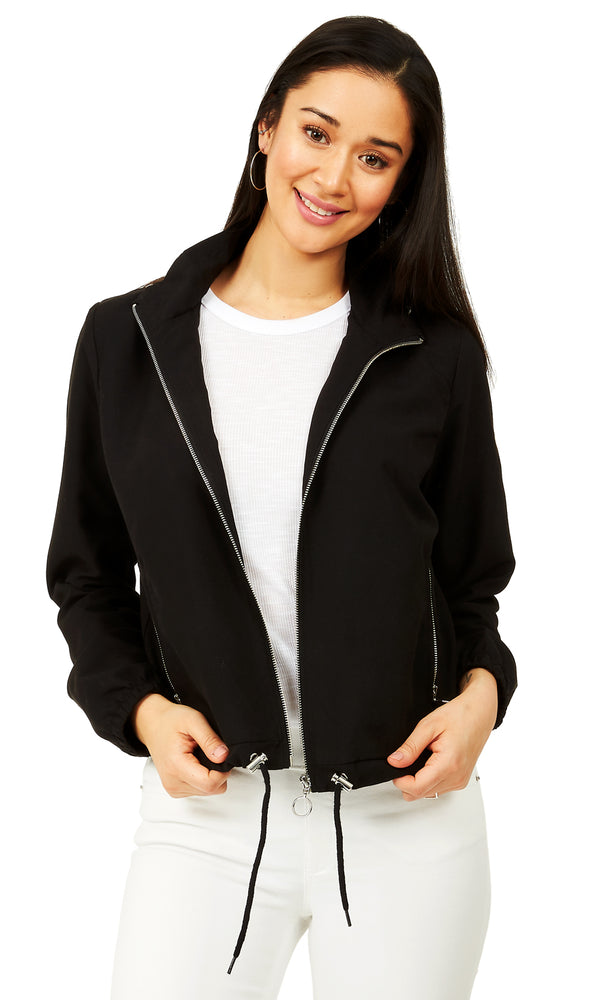 Soft Cropped Hooded Jacket