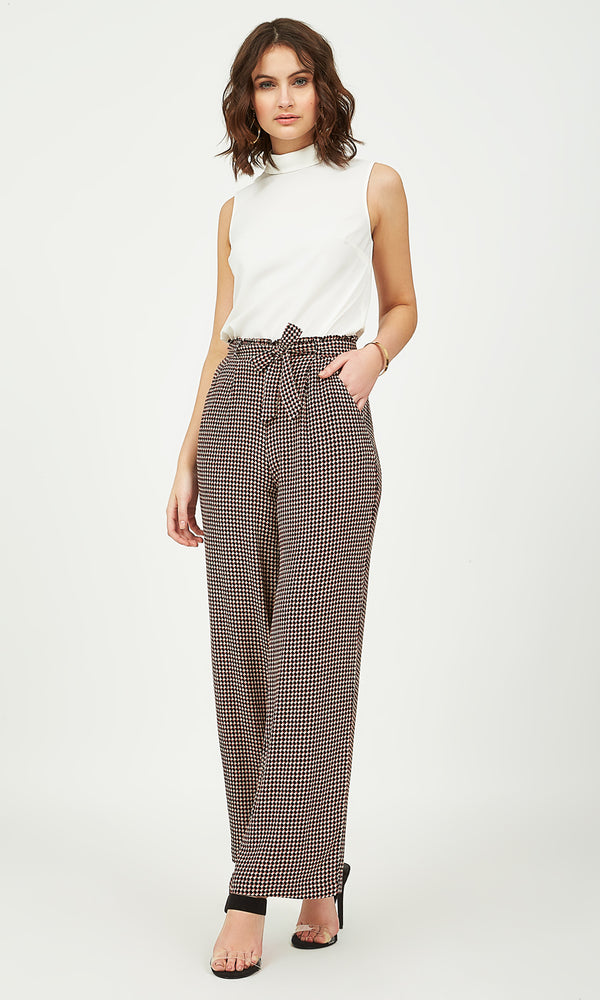 Printed Pleated Palazzo Pants