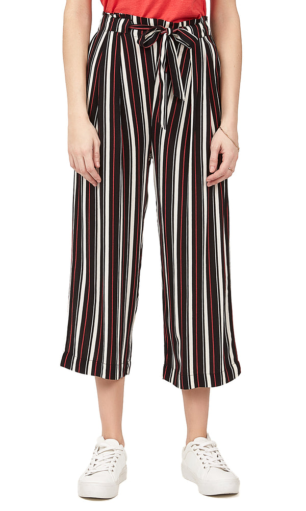 Printed Pleated Gaucho Pants