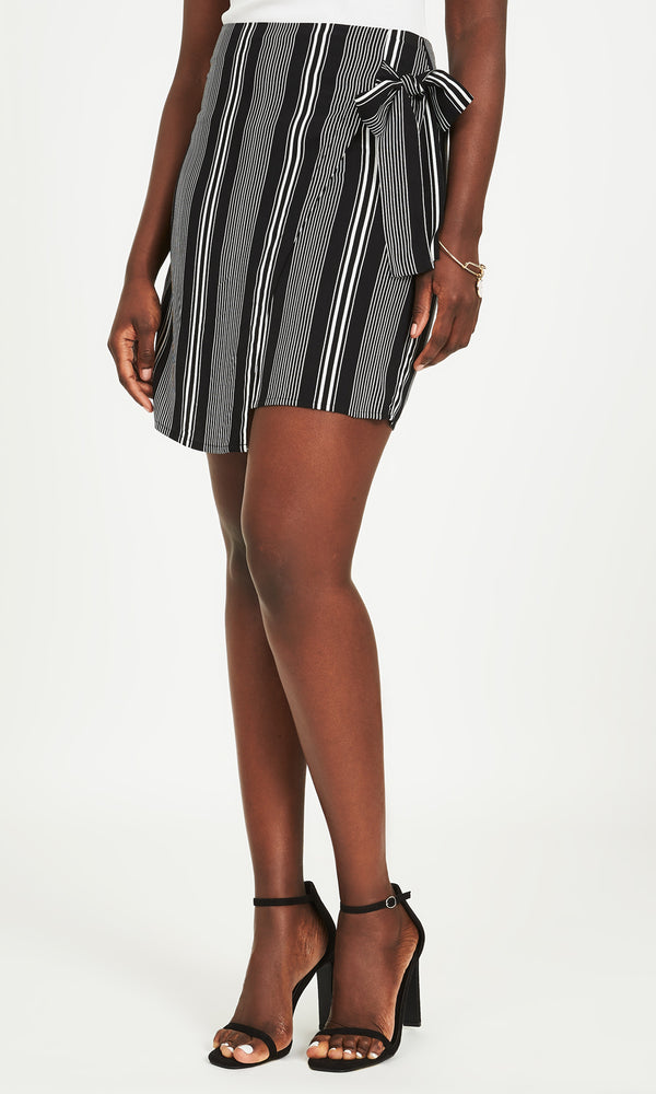 Side Tie Wrap Skirt