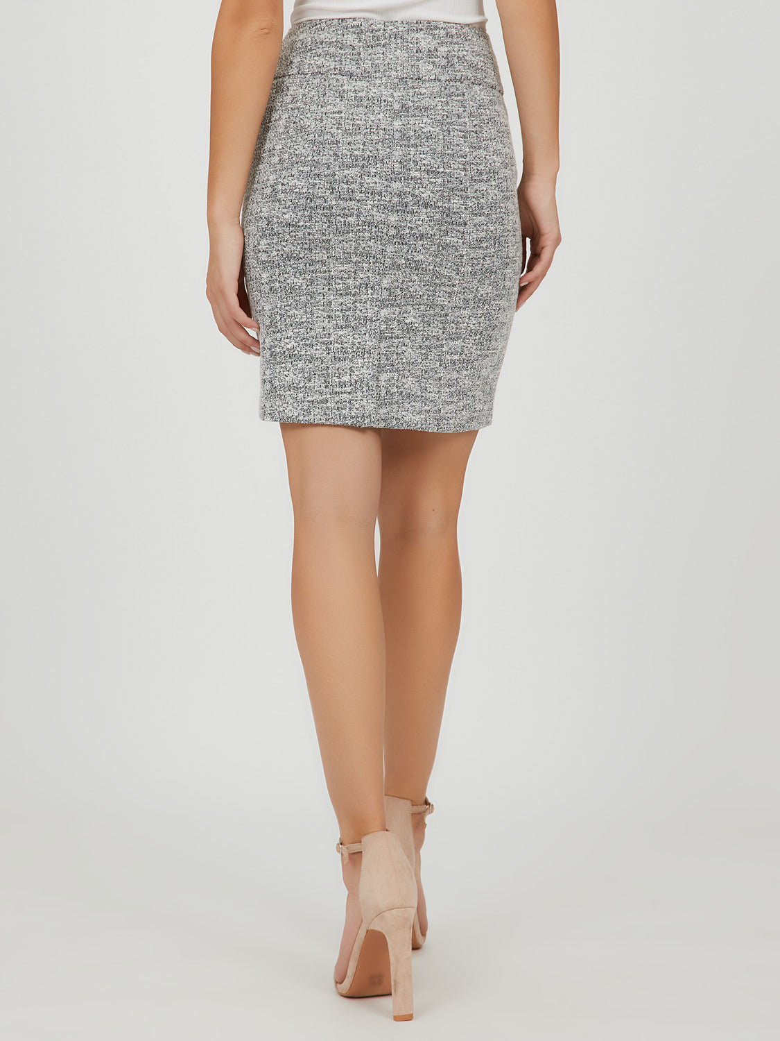 Bouclé Knit Mini Skirt