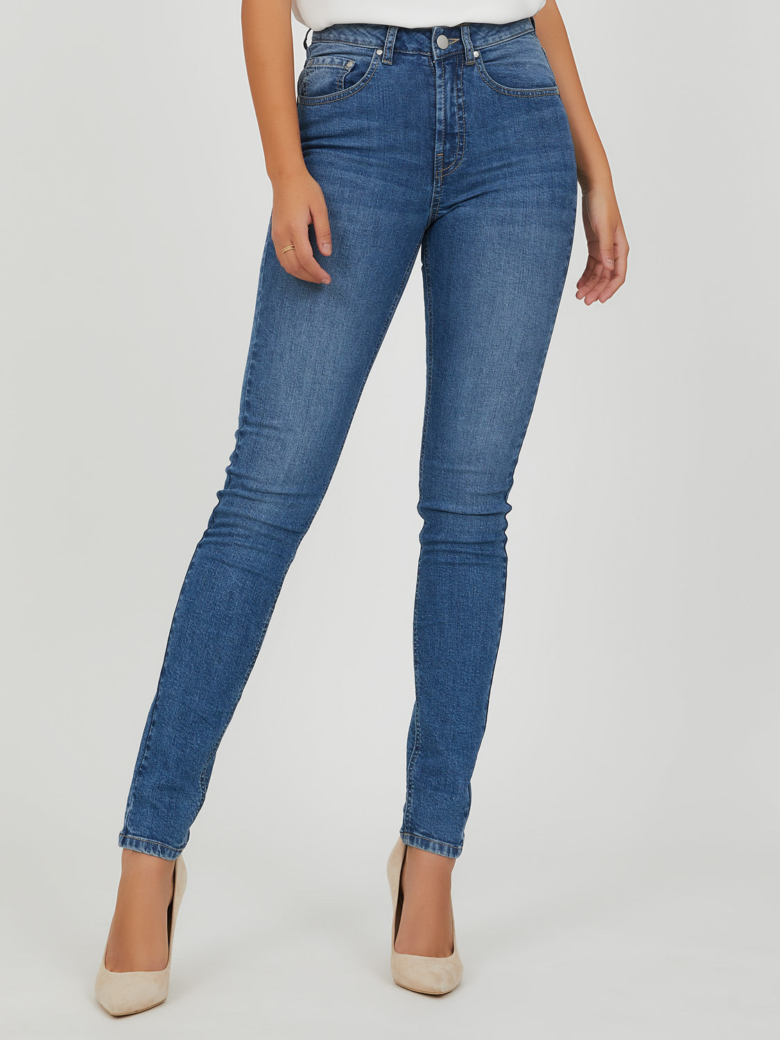 Classic-Rise Skinny Jeans
