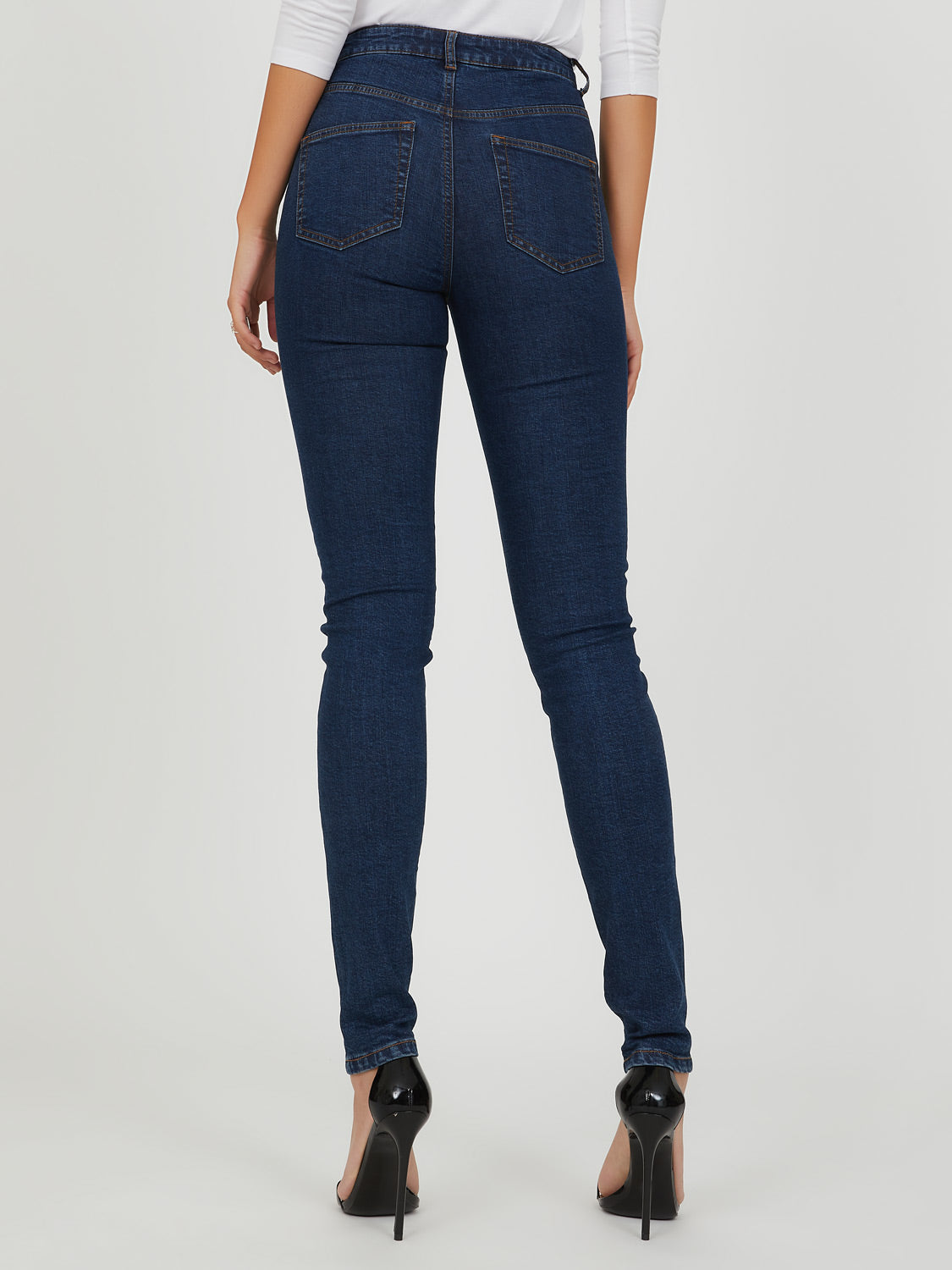 Pantalon ajusté en denim