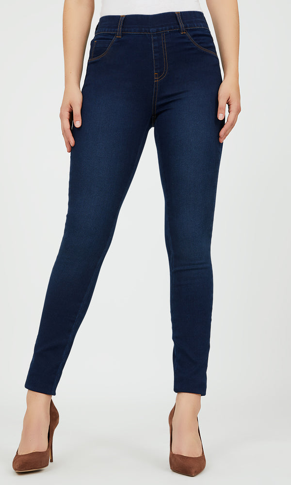 Pull-On Skinny Denim Pants