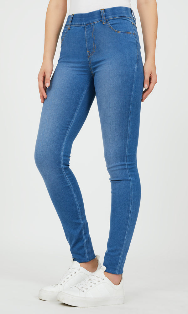 Pull-On Skinny Denim Pant