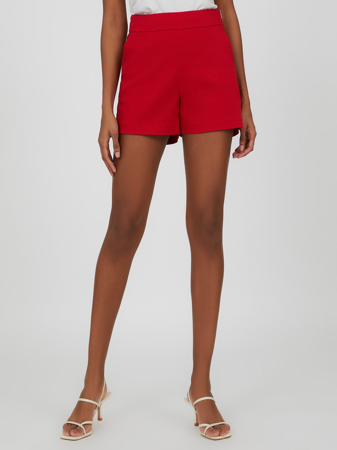 Wide Waist Sateen Short