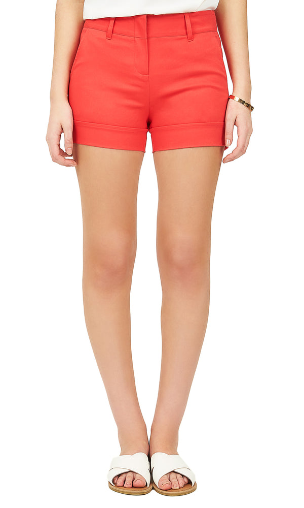 Sateen Zip Shorts