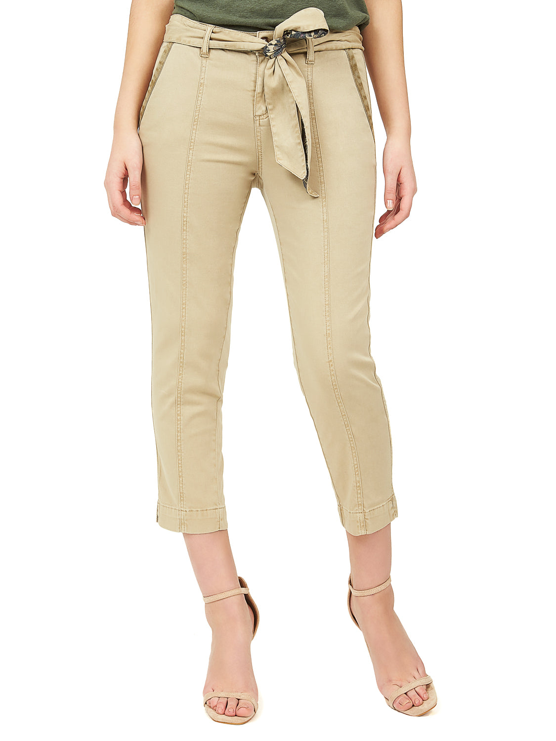 Pantalon capri safari
