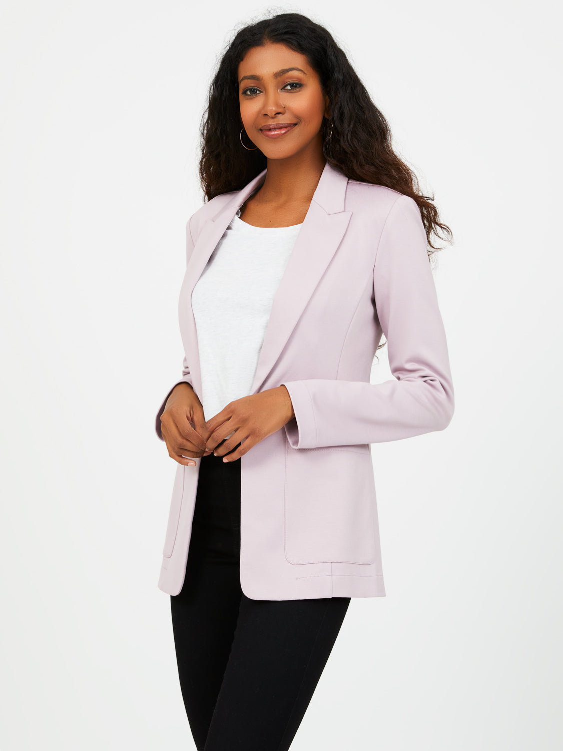 One-Button Unlined Blazer