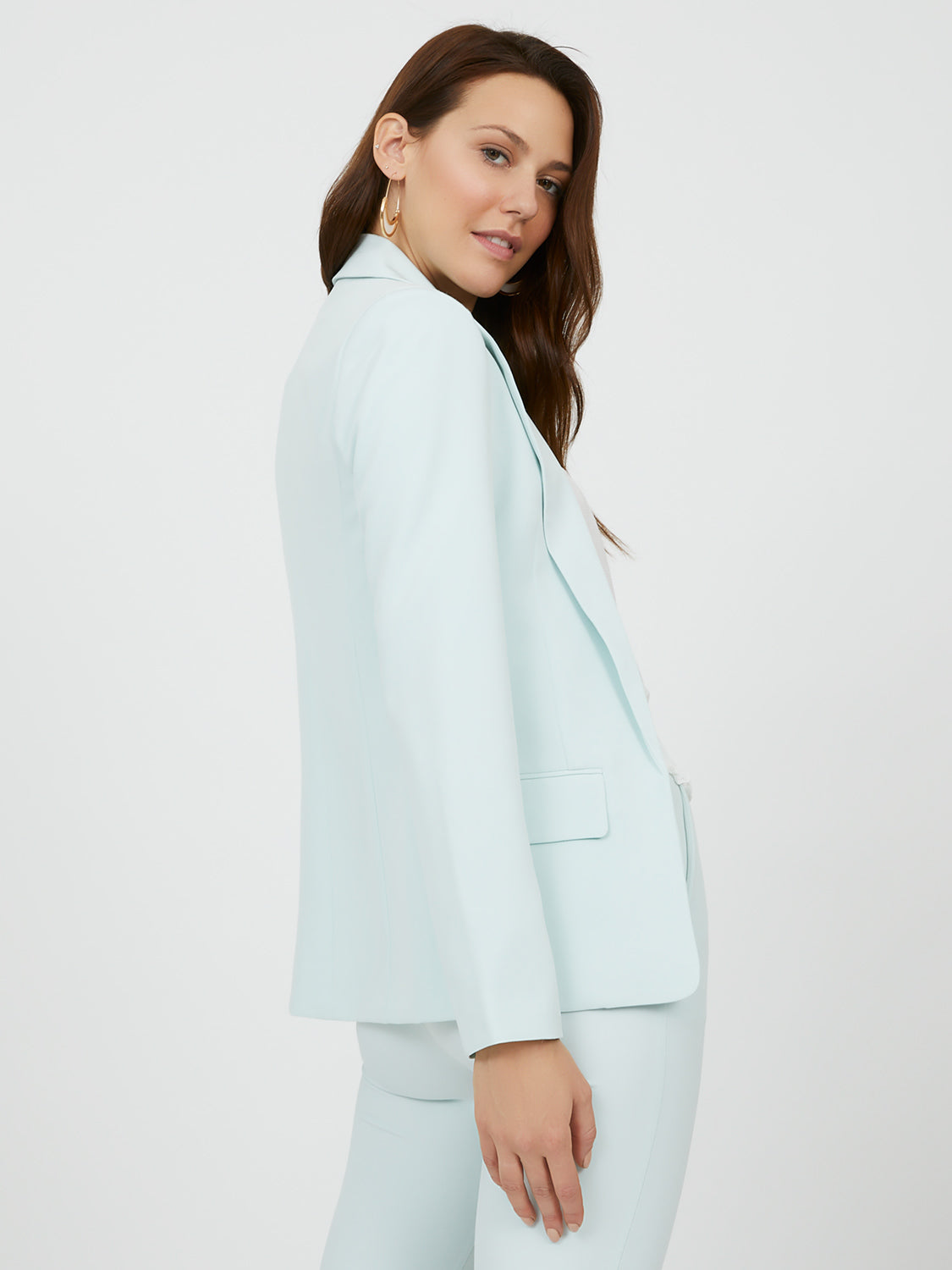 Lined Notch Collar Blazer