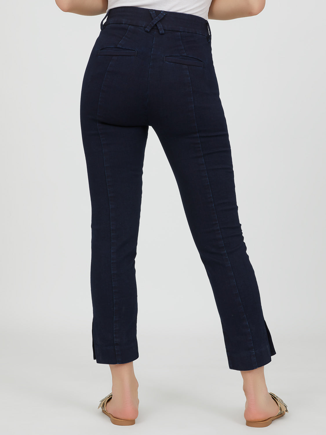 High Rise Denim Capri Pant