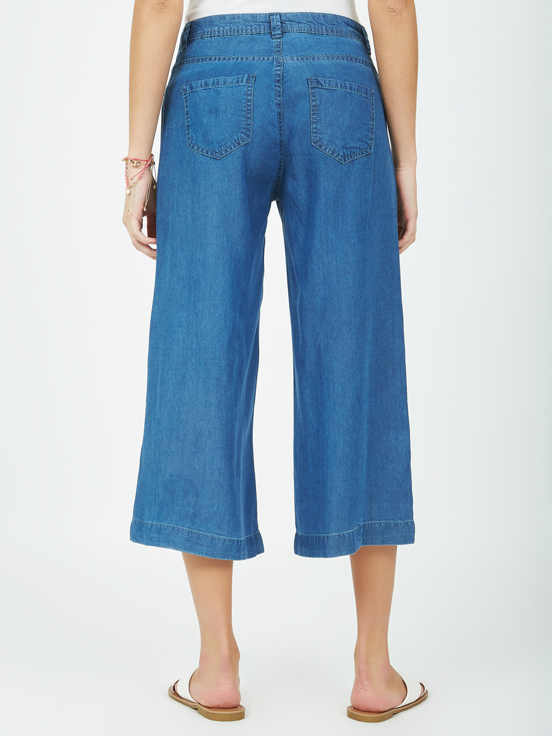 Pantalon gaucho en denim