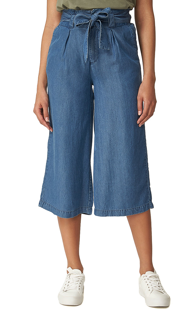 Denim Gaucho Pants