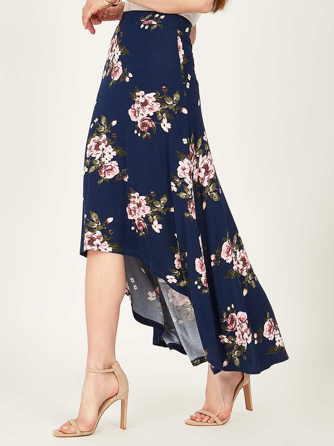 High-Low-Floral-Maxi-Skirt