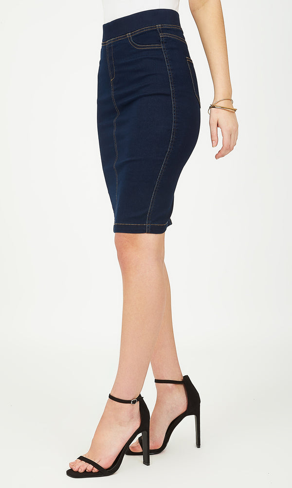 Super Stretch Denim Pencil Skirt