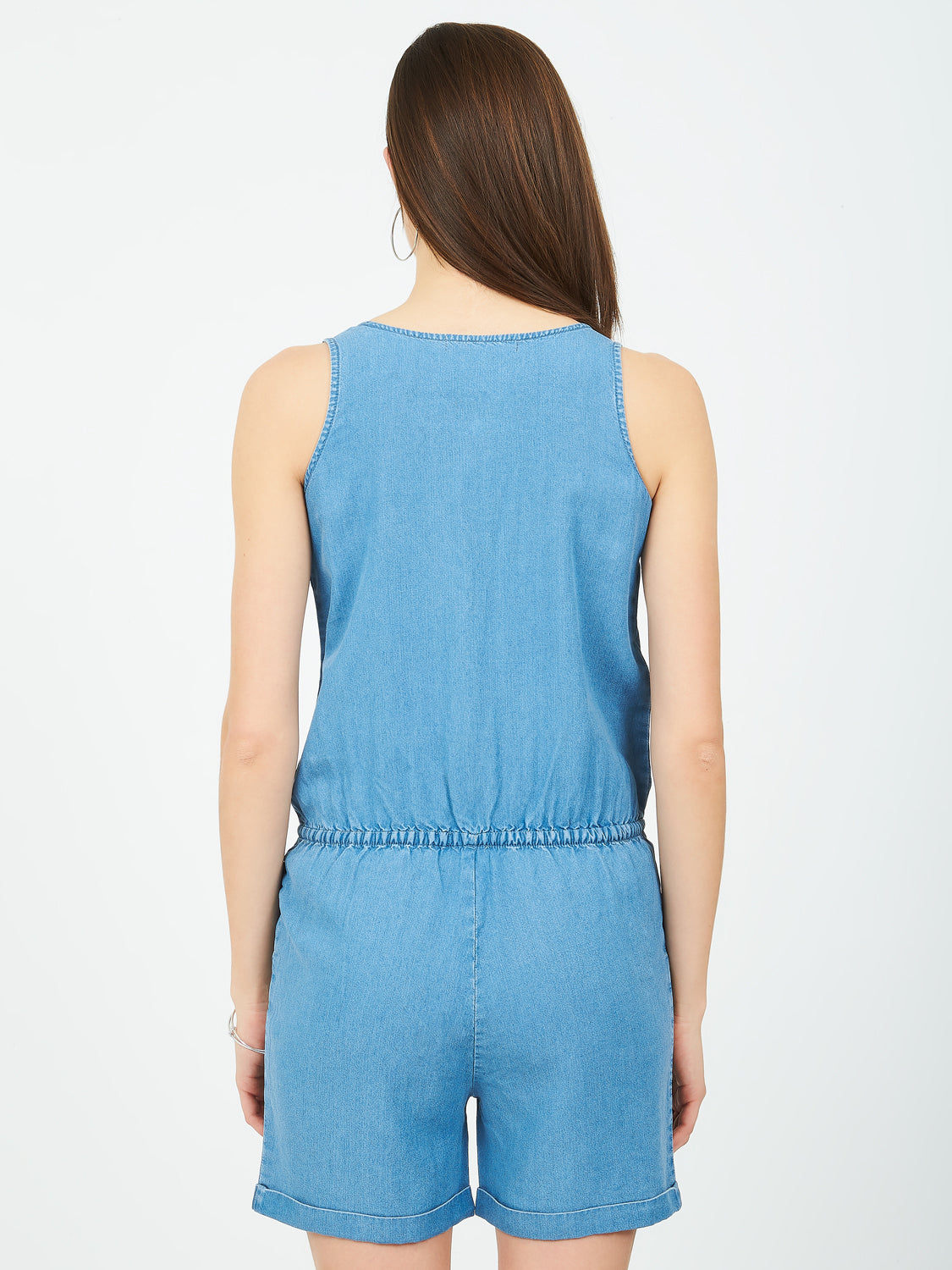 Sleeveless Denim Romper