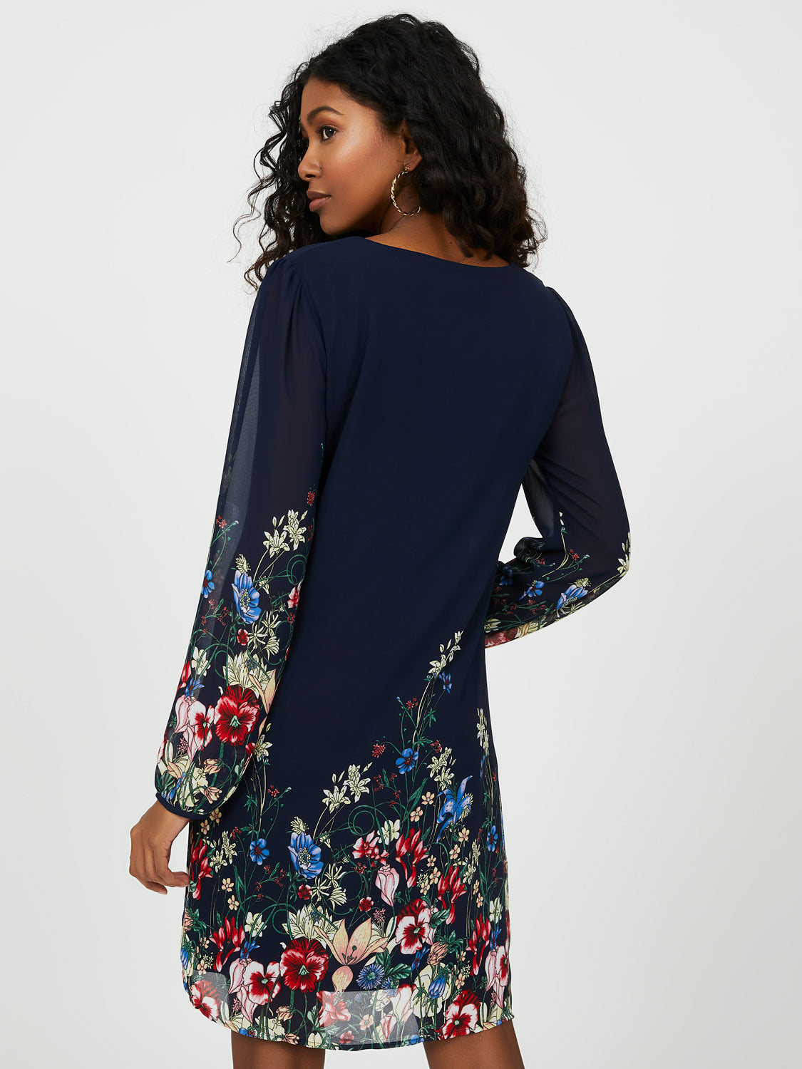 Balloon Sleeve Floral Dress