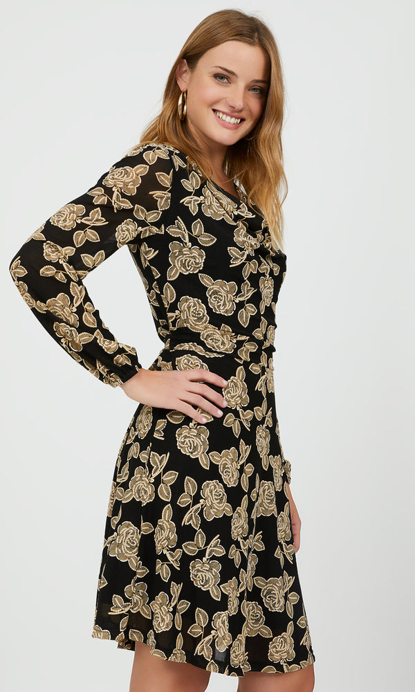 Fit & Flare Floral Mini Dress