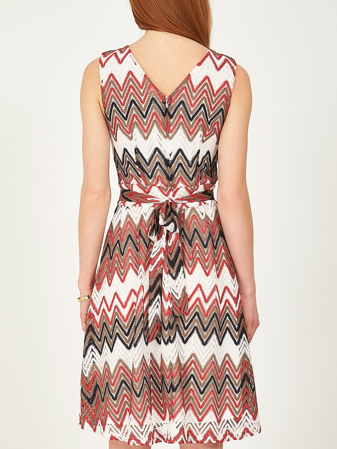 Chevron Fit & Flare Dress