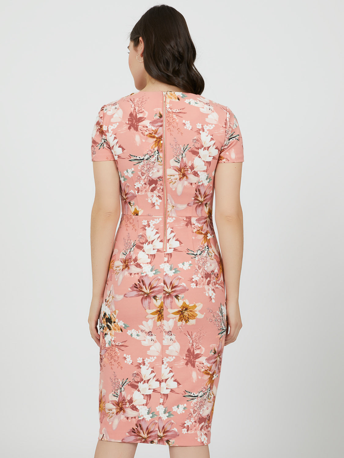 Floral Empire Waist Sheath Dress